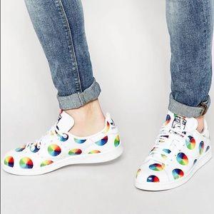ADIDAS OG S77367 Stan Smith Rainbow PolkaDot Shoe